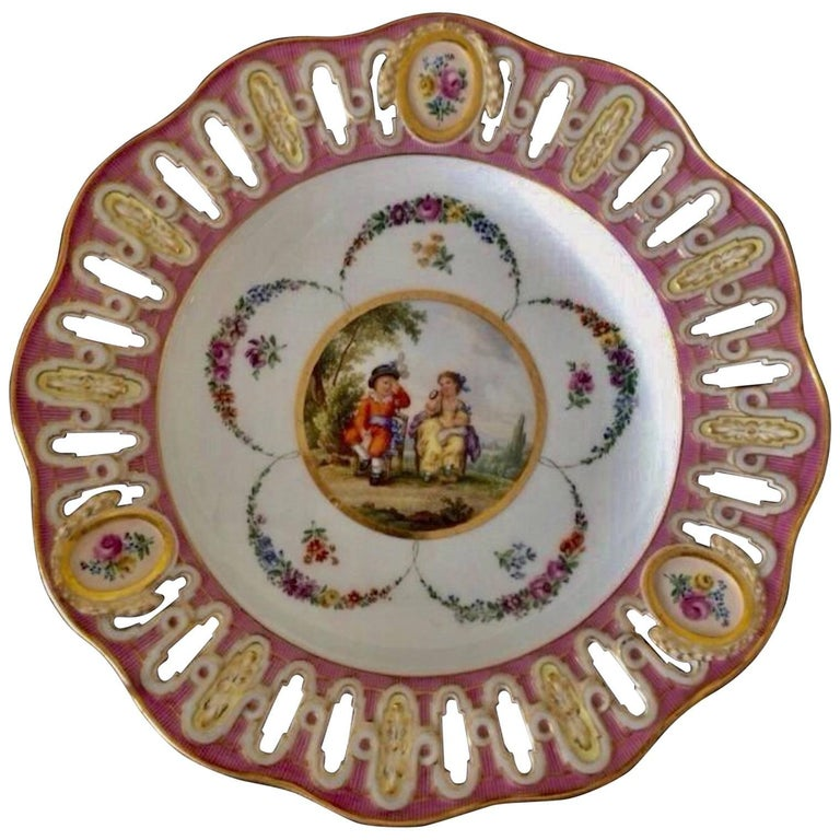 19th Century Meissen Reticulated Plate