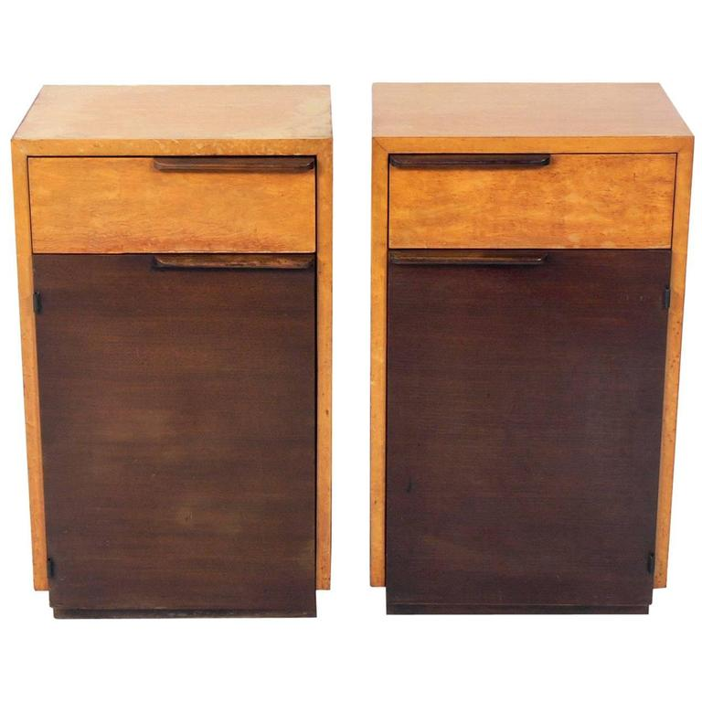 Pair of Art Deco Nightstands by Gilbert Rohde For Sale