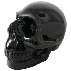 Large Solid Onyx Skull