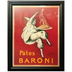 French Pates Baroni a Color Poster Reprint in an Ebony Frame