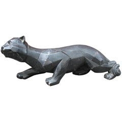 Mid-Century Prowling Panther Statue