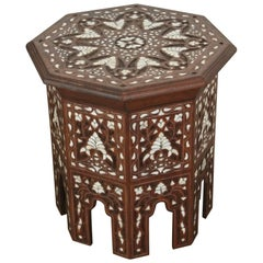 Syrian Mother-of-Pearl Inlaid Side Table
