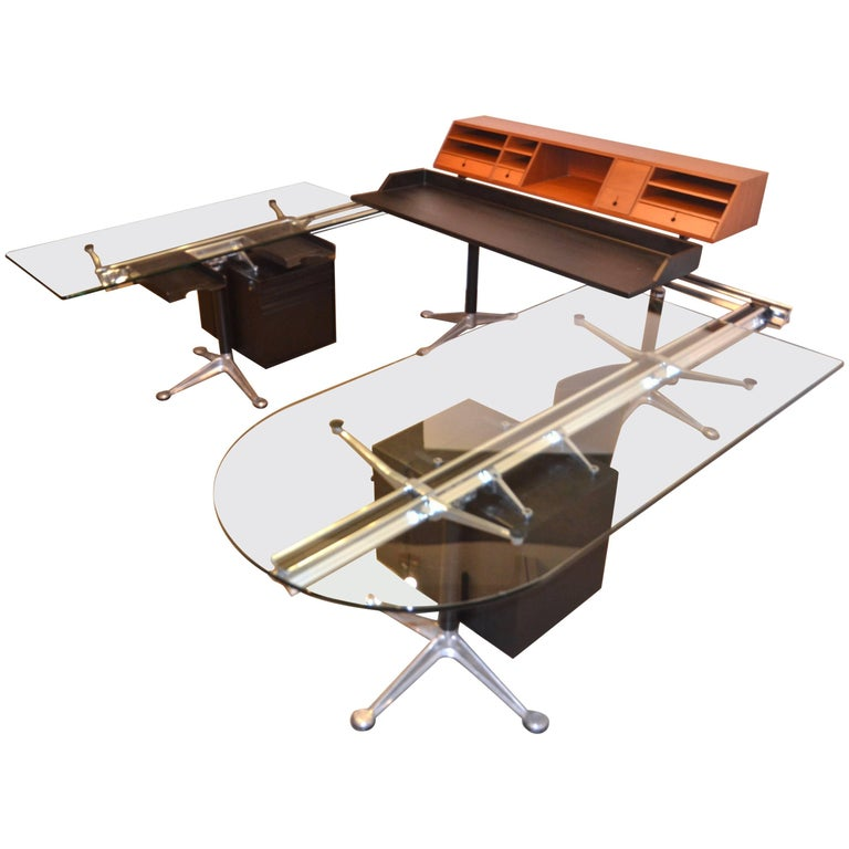 Herman Miller Desk by Bruce Burdick Fully Adjustable Components For Sale