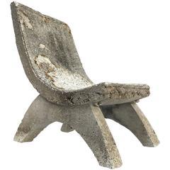 Cast Concrete Garden Chair