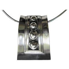 Sterling Pendant, Brooch by Mexican Modernist Jeweler Rafael Melendez