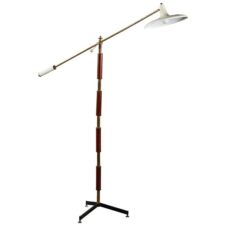 Vintage Italian Articulating Floor Lamp