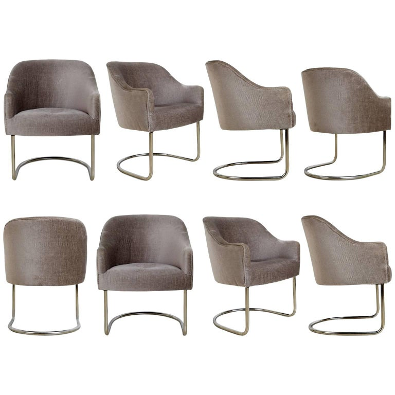 Custom Cantilevered Club Chairs by Steve Chase from Chase