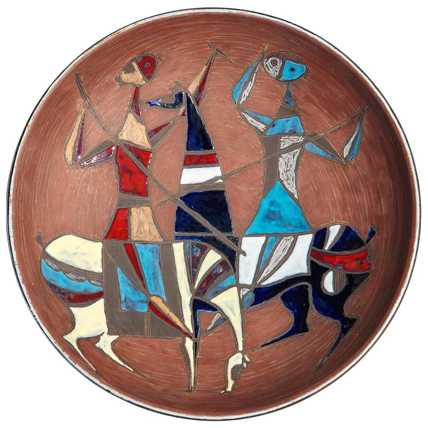 Large Wall-Plaque / Charger by Marcello Fantoni