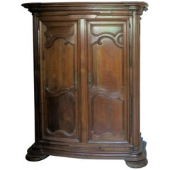 Burgundy Monumental Castel Cabinet Regence, Louis XIV in Blond Oak