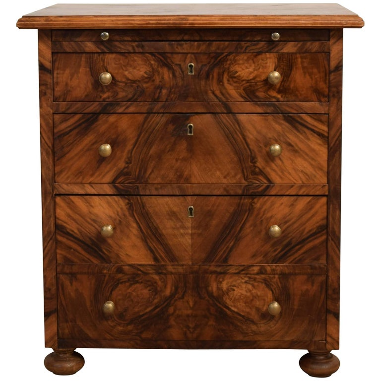 Small baroque style walnut commode 1920s at 1stdibs - Commode style baroque ...