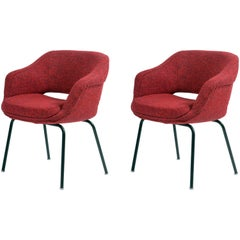 Pair of Cassina Mid-Century Little Armchairs, Signed by Olli Mannermaa Publiched