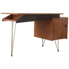 Wooden Tiny, Elegant Office Desk, circa 1960