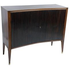 Mid-Century Italian Curved and Grooved Front Doors Sideboard
