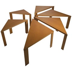 "Set of Six ""Tangram"" Tables by Massimo Morozzi for Cassina"