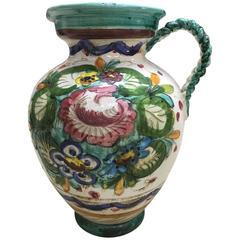 Italian Ceramic Amphora / Anfora Portafiori
