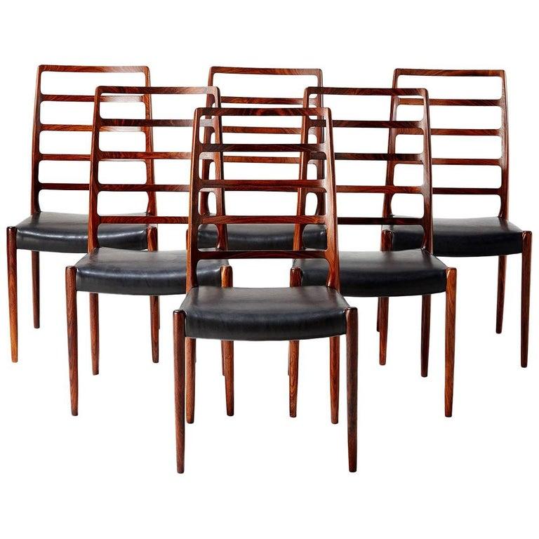 Niels Moller Model 82 Chairs, circa 1970