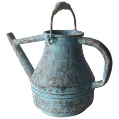 19th Century French Copper Watering Can with Original Patina