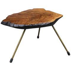 Carl Auböck Walnut Small Tree Trunk Table