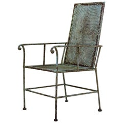 Unusual Iron Armchair, France, circa 1900