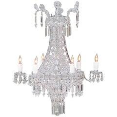 Italienischer Neoklassischer Kristall Kronleuchter, Frühes 20. Jahrhundert