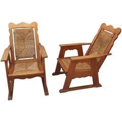 SETTEE Suite Oak Arts And Crafts
