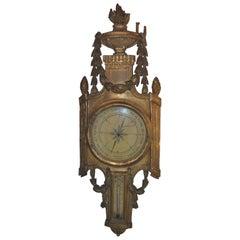 Louis XV Giltwood Barometer