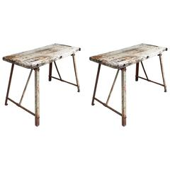 Pair of Antique French Work Tables