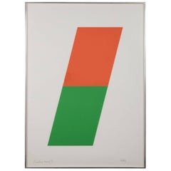 Ellsworth Kelly Lithograph, Orange/Green, 1970