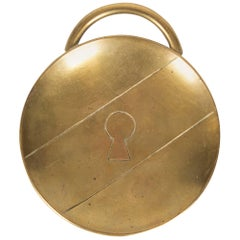 Rare Key Whole Heavy Brass Ashtray by Carl Auböck, Vienna, 1950s
