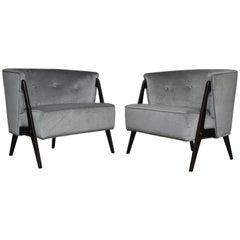Karpen Splayed Leg Lounge Chairs