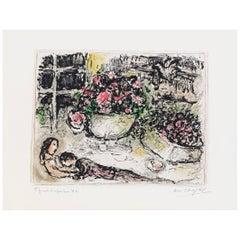 Marc Chagall, La Table Fleurie, Paris, 1973
