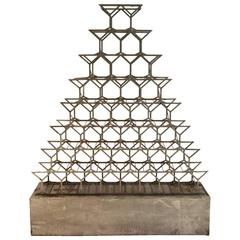 Metal Standing Wine / Bottle Rack, USA, circa 1965