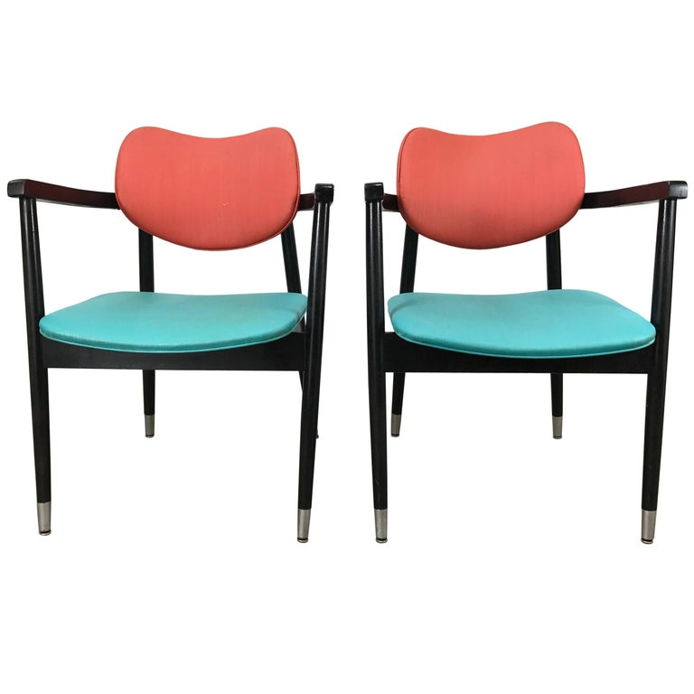 Pair Of Armchairs By Shelby Williams For Sale At 1stdibs