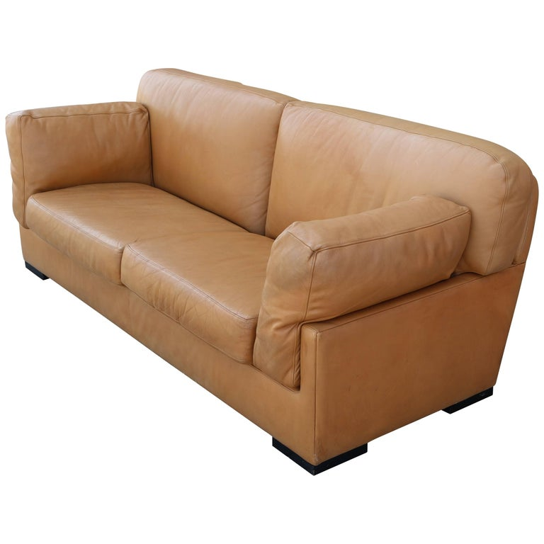 1970s Butterscotch Leather Sofa