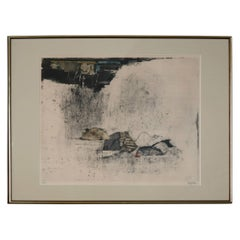 """Large Johnny Friedlaender Etching and Aquatint """"L'Orage - The Storm"""", 1966"""