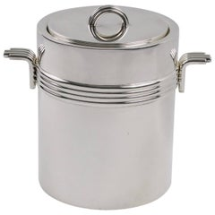Mid-Century Modern Silver Plate Ice Bucket by Christian Dior, circa 1970s