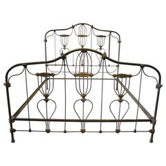 Antique King-Size Iron Bed