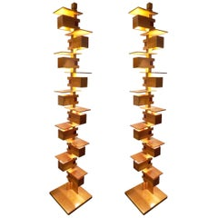 Fantastic Pair of Frank Lloyd Wright Taliesin Floor Lamp