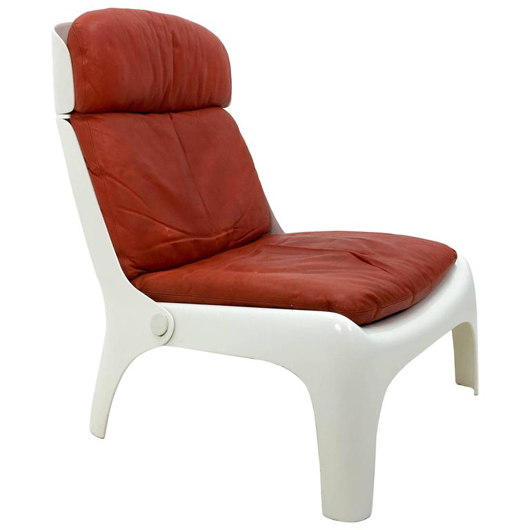 Futuristic 1970s Lounge Chair For Sale