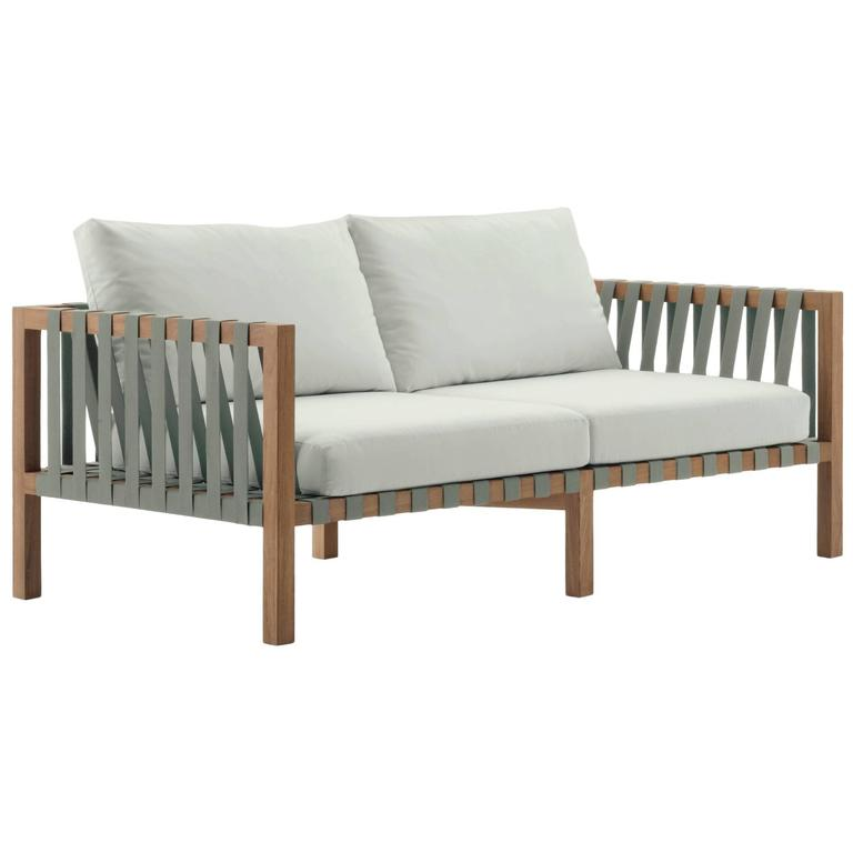 Roda Mistral 102 Two-Seat Sofa in Teak for Outdoor/Indoor Use For Sale