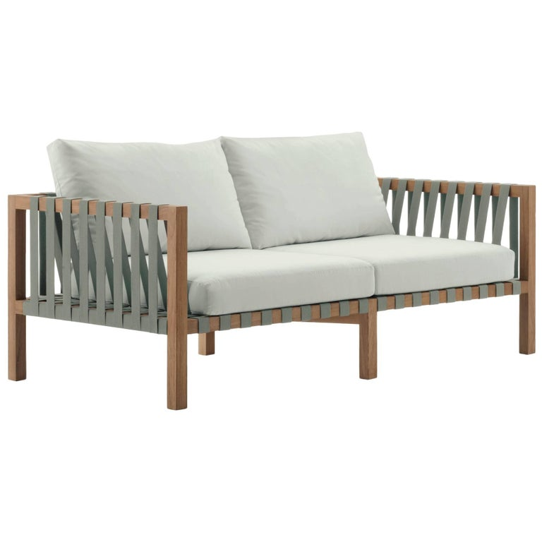 Roda Mistral 102 Two-Seat Sofa in Teak for Outdoor/Indoor Use