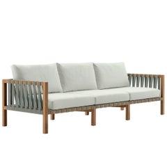 Roda Mistral 103 Sofa für Drei Personen aus Teakholz für Innen und Außen