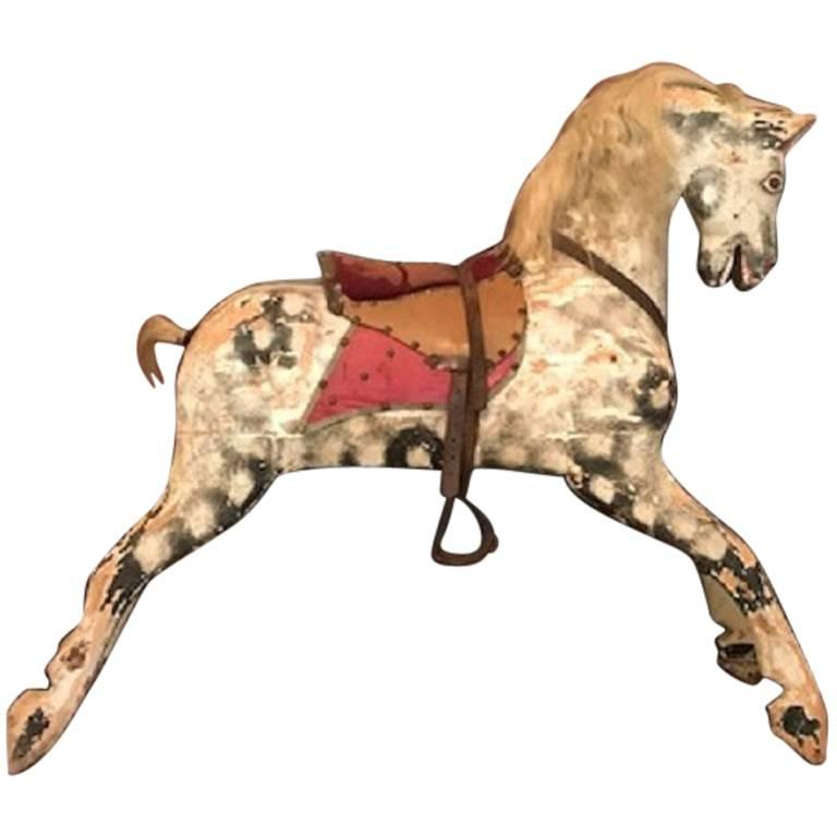Rocking Horse Painted, Late 19th Century