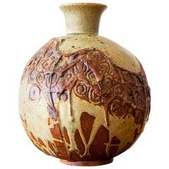 Round Ceramic Vase by Bernard Rooke, England, 1970s