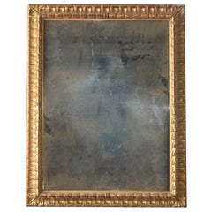 19th Century Gold Gilt Italian Frame with Replaced Distressed Mirror