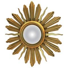 Vintage Giltwood Sunburst Mirror, 1960s