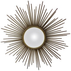 Sunburst Convex Metal Mirror Chaty Vallauris