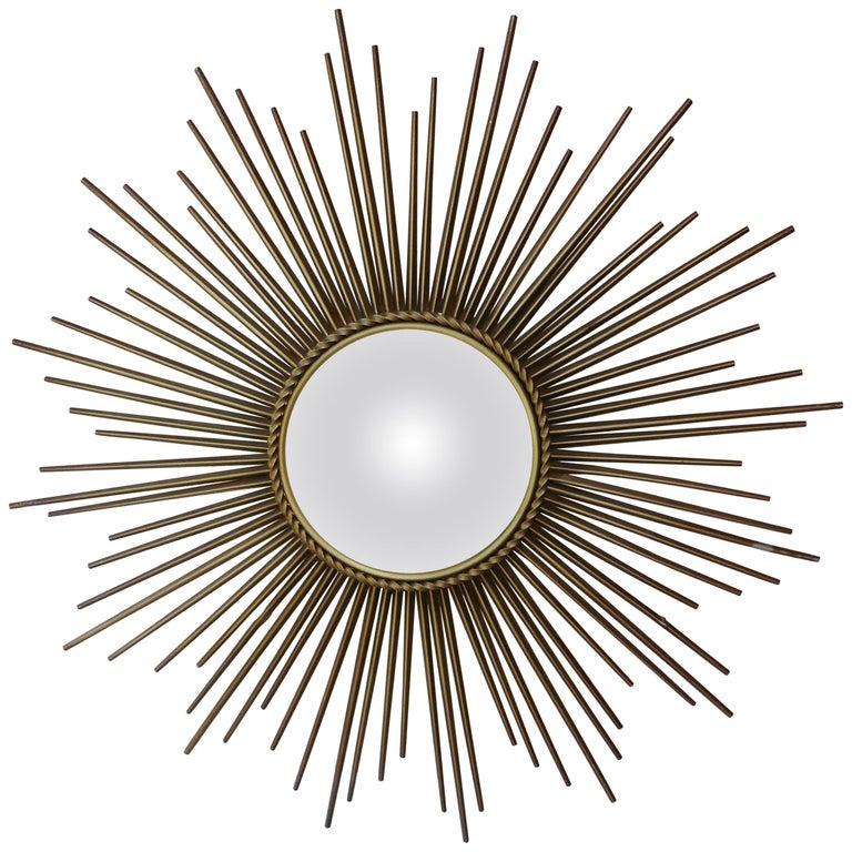 Sunburst Convex Metal Mirror Chaty Vallauris
