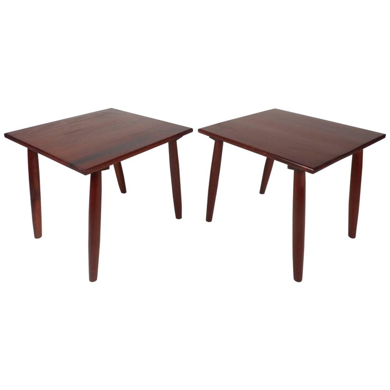 Pair of Unique Mid-Century Modern End Tables