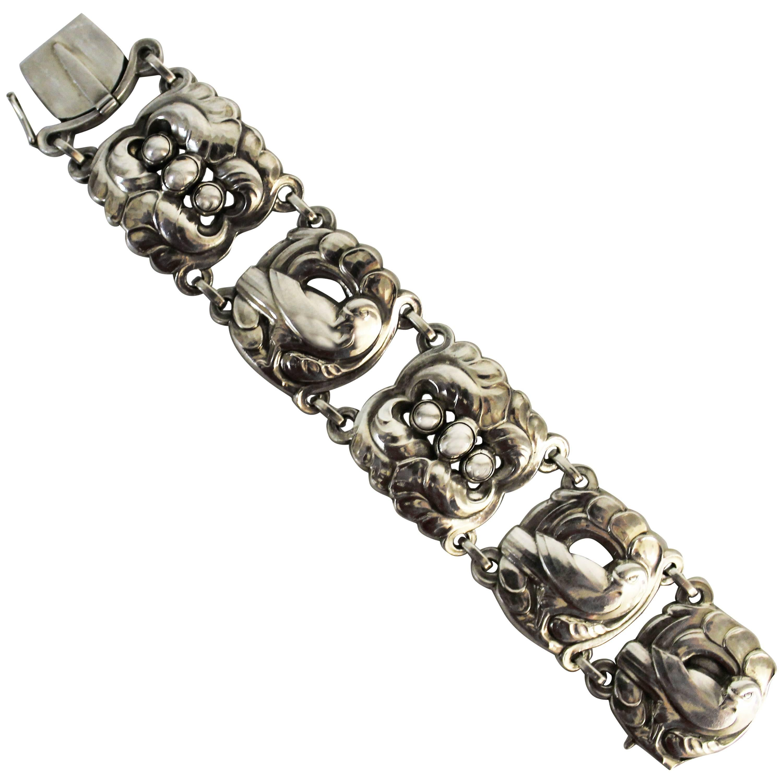 Georg Jensen Sterling Silver Dove Bracelet